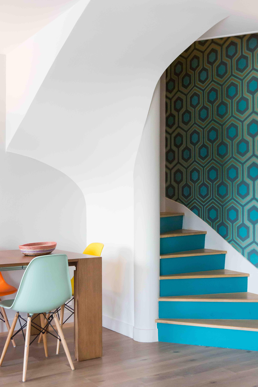 Salle A Manger Escalier Appartement Boulogne Billancourt 90m2