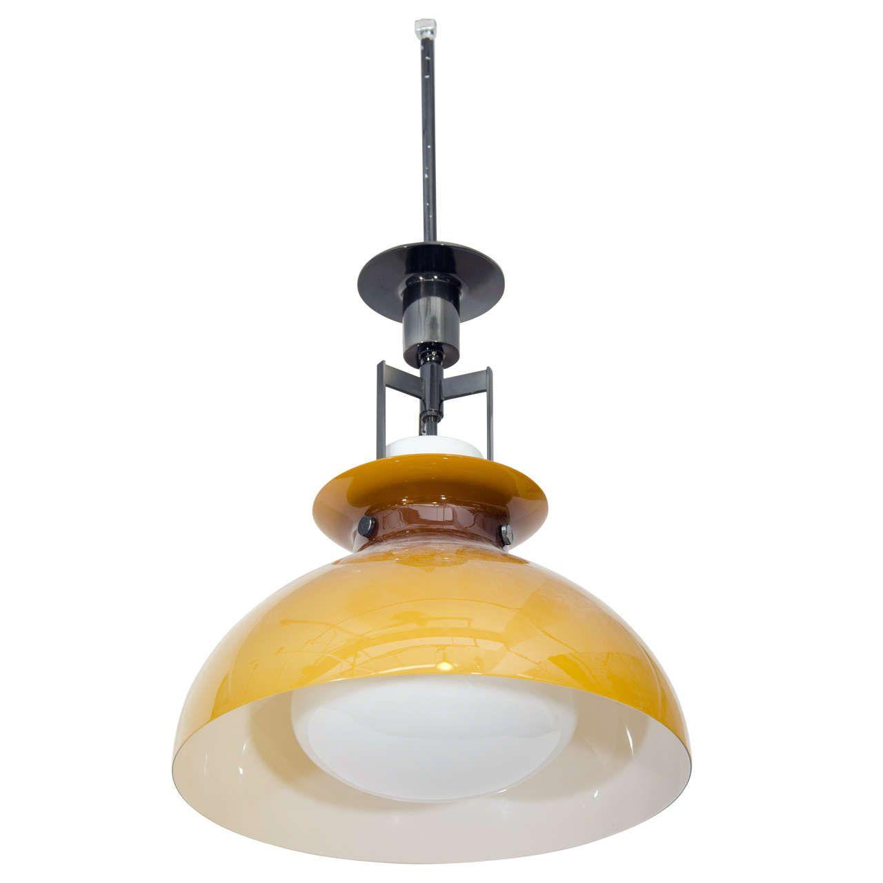 Mid-Century Italian Tulip Form Pendant Light   1stdibs.com ...