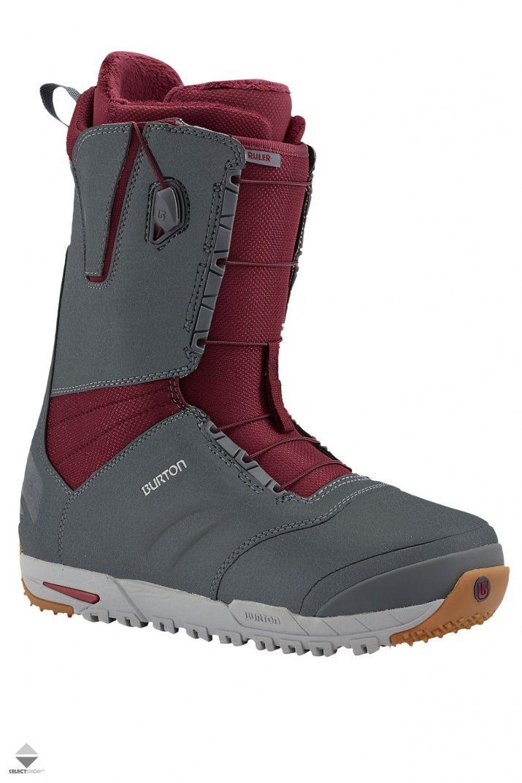 Buty Snowboardowe Burton Ruler Grey Burgundy 104391020849 Snowboard Boots Boots Boots 2016
