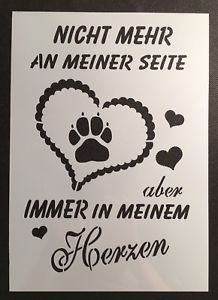 Shabby Chic Schablone F Schild Farbe Schild Hund Glueck
