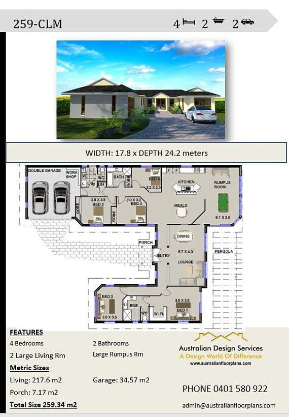 Incredible 259 M2 4 Bedroom House Plans 4 Bedroom Floor Plans 4 Download Free Architecture Designs Viewormadebymaigaardcom