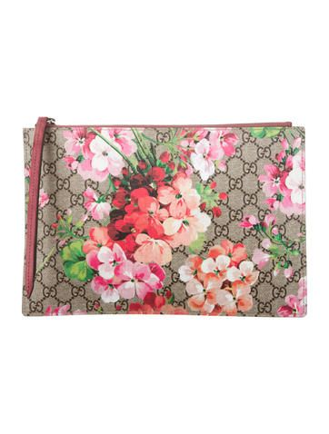 793fd40cf4b GG Blooms Clutch | hand bags galore! | Gucci pouch, Floral clutch ...