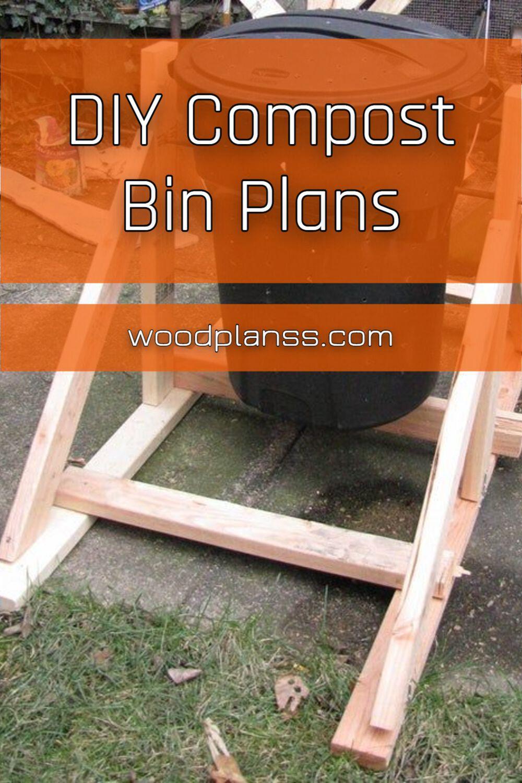 Diy Compost Bin Plans in 2020 Compost bin diy, Diy