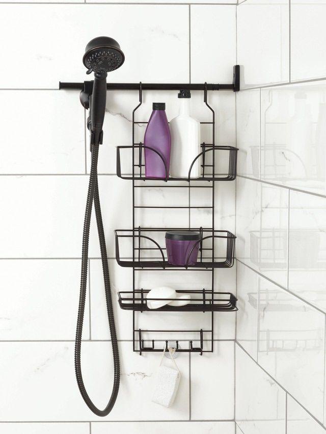 10 Stylish Bathroom Storage Solutions Bathroom Storage Solutions Shower Storage Shower Organization