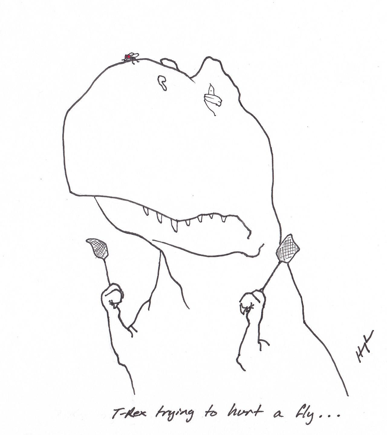T-Rex Trying To Hurt a Fly... 20 things T-Rex tries to do
