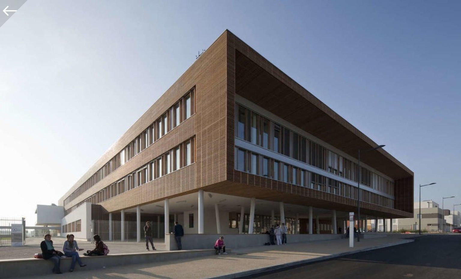 Modern Architecture France louis pasteur high school in france | modern architecture