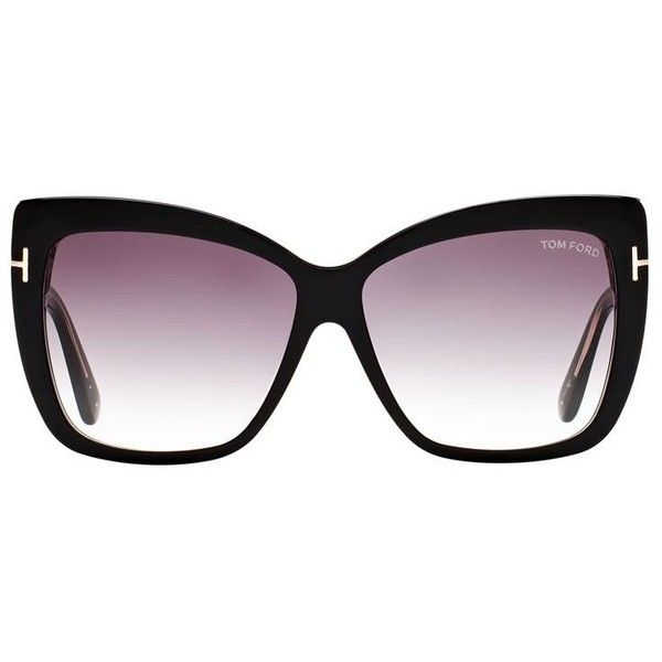 2d7e87a035f TOM FORD Irina Oversized Sunglasses ( 335) ❤ liked on Polyvore featuring  accessories