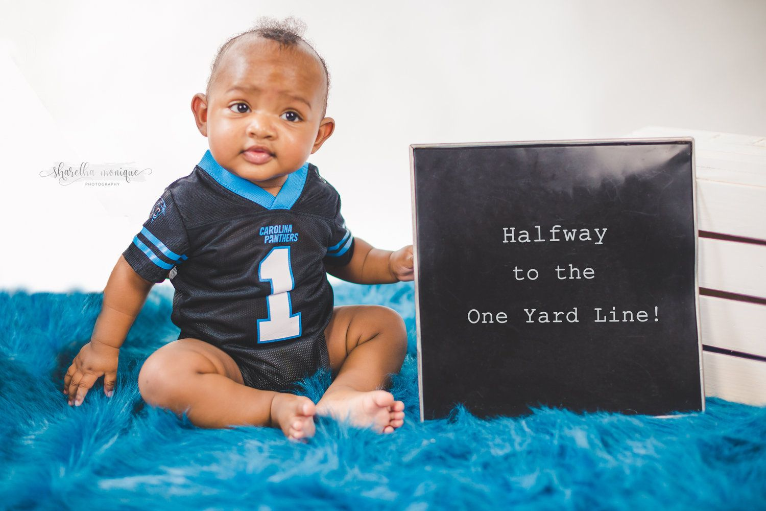 1e934bbe6 Carolina Panthers-Inspired 6 Month Baby Milestone Session | The Best ...
