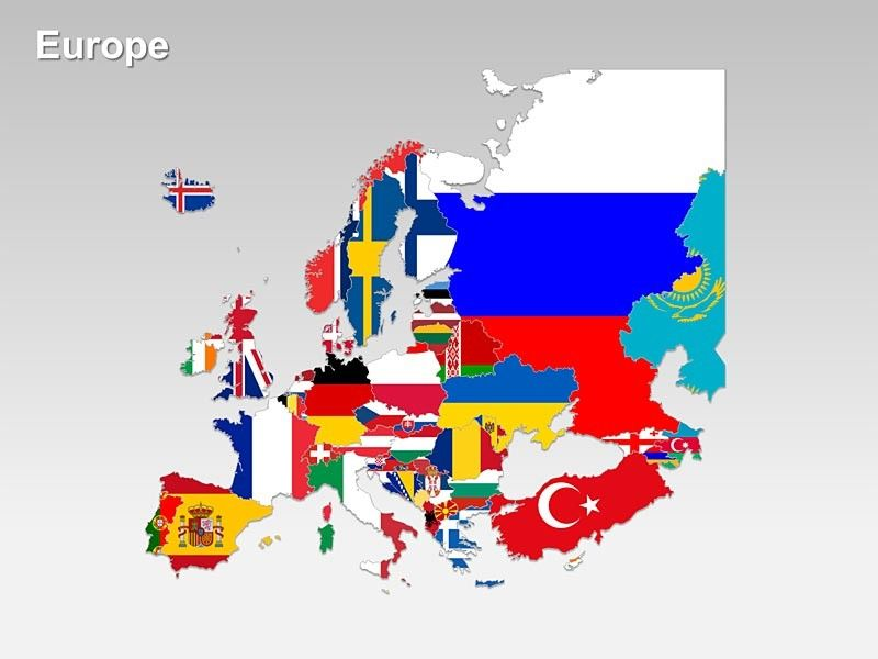 editable map of europe