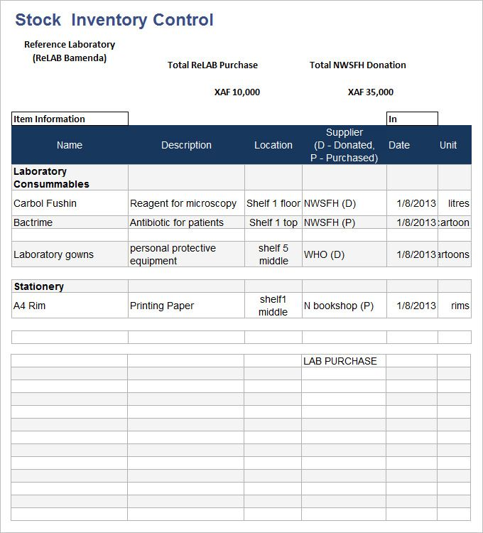 15 stock inventory templates word excel pdf templates www