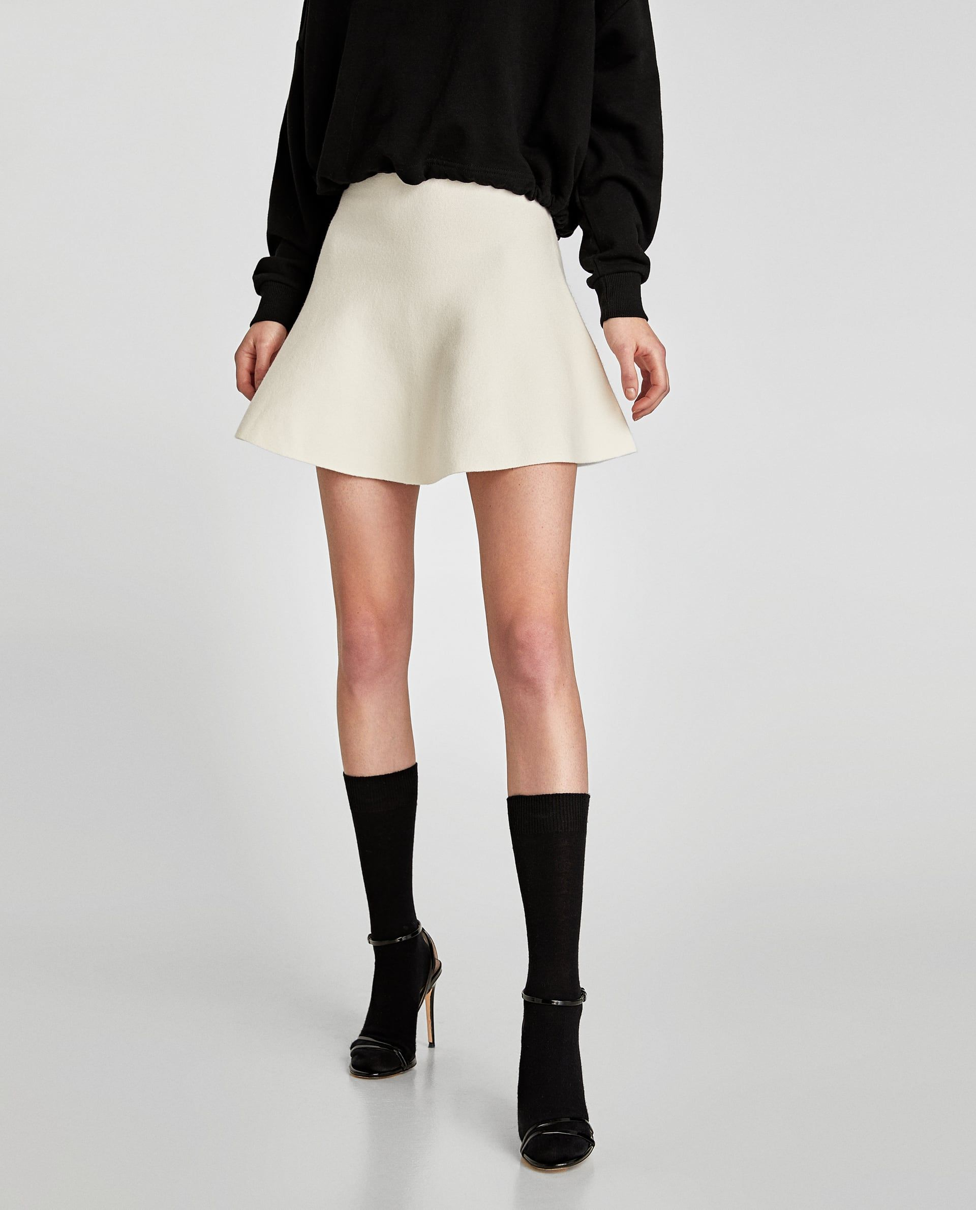 White Mini Skirt  Zara   I wanna   Mini skirts, Fall winter outfits ... fc53f570d97