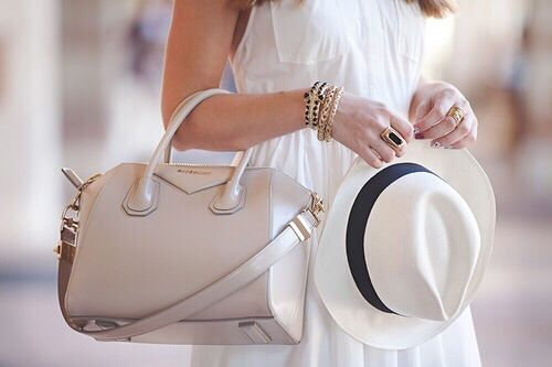 Image via We Heart It #bag #classy #dress #elegance #fashion #hat #outfit #style #summer #givenchy