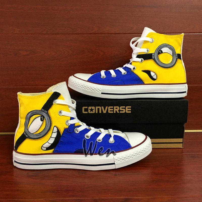 Sneaker Men Women Converse Chuck Taylor Hand Painted Shoes Despicable Me  Minions - Unisex Adult Shoes a0e7be269