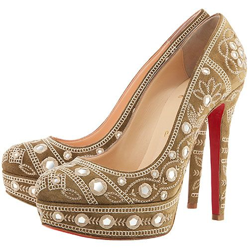 058cea635878 Bollywood-style Christian Louboutin Devidas platform pumps from the CL Spring Summer  2012 collection