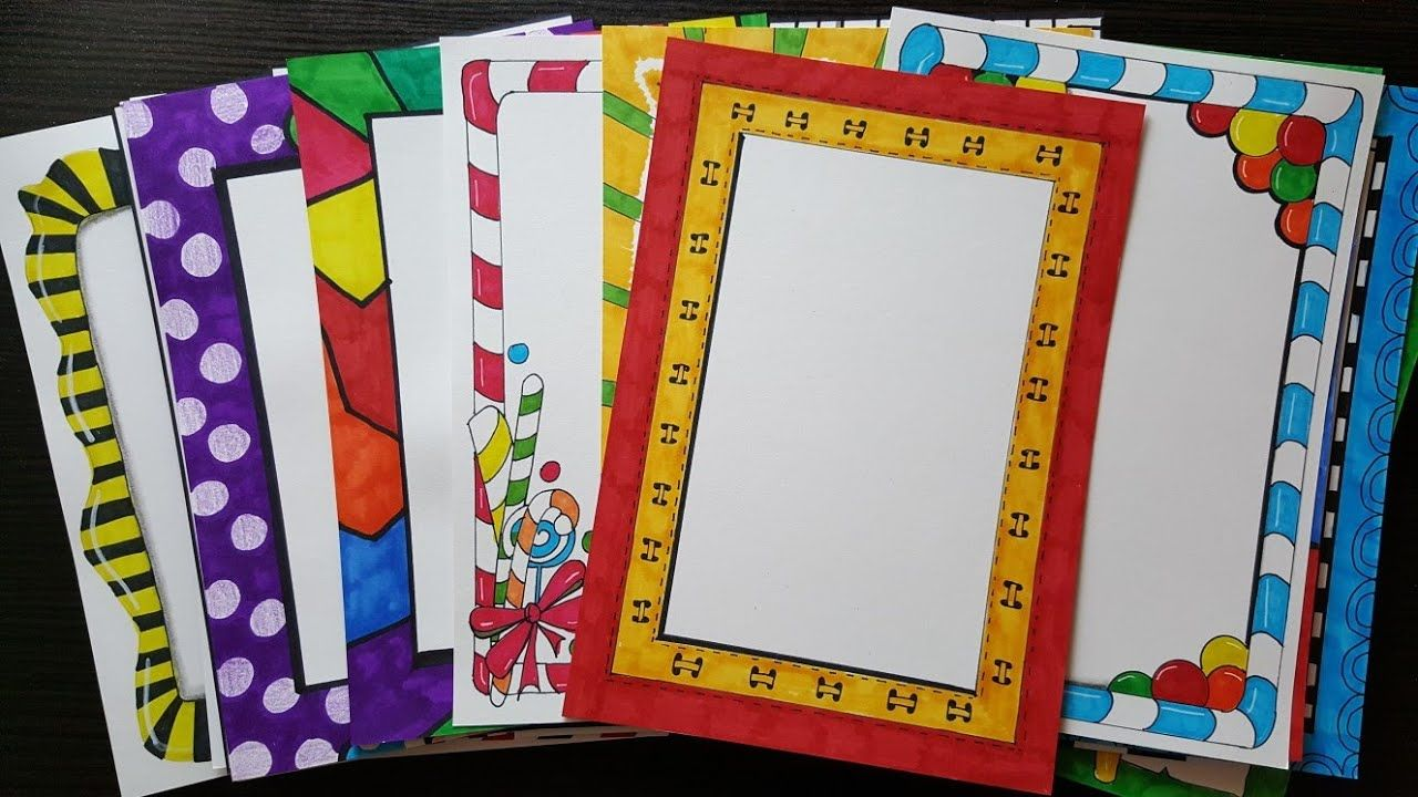 compilation of beautiful and easy border designs for project file also how to make page assignment school rh pinterest