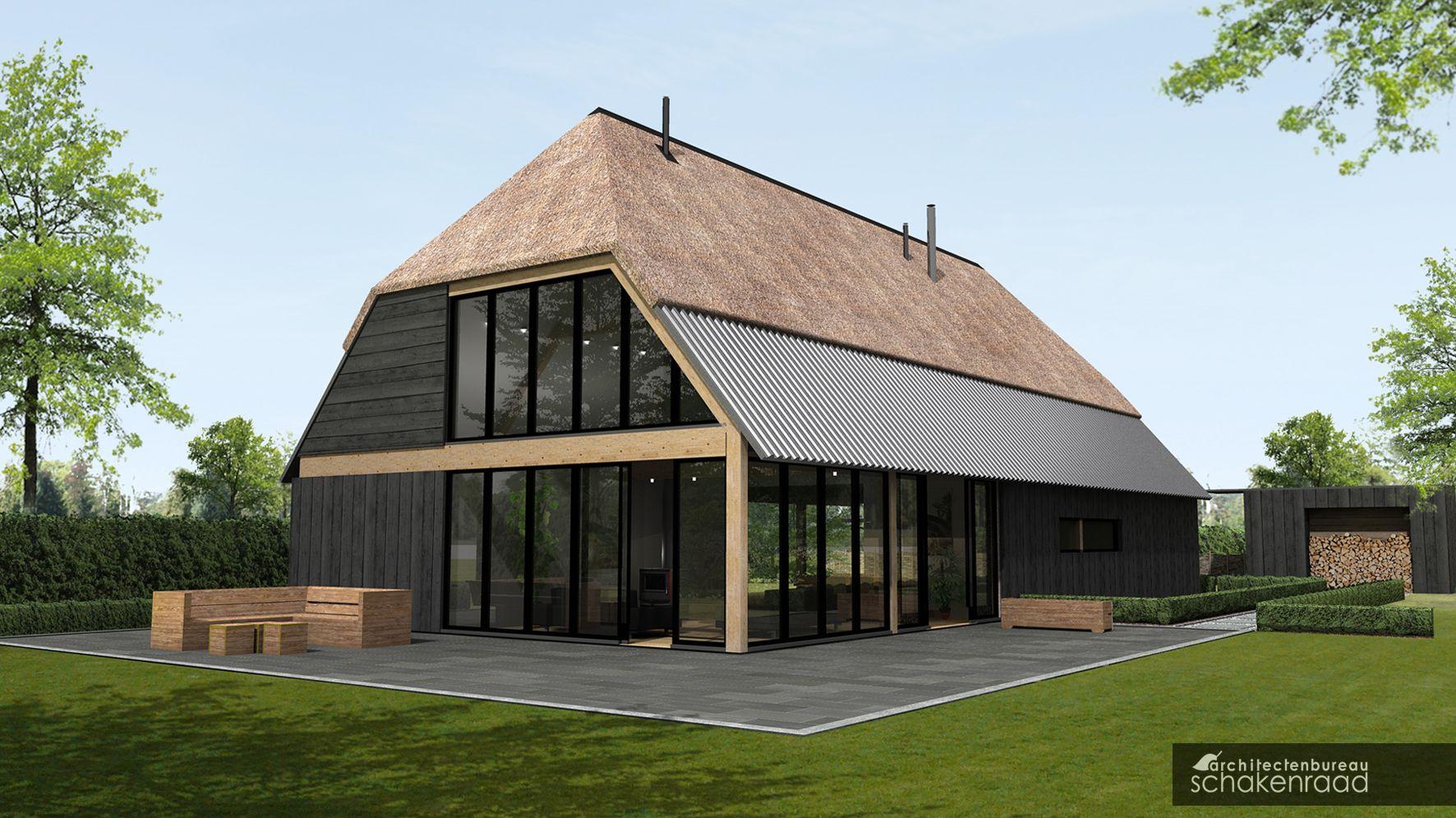 Architectenbureau schakenraad moderne boerderij woning for Cost to build modern home