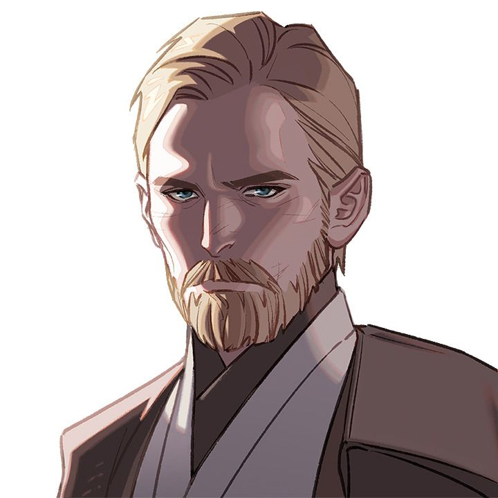 Obi Wan Kenobi Anime Rendering Star Wars Pinterest Galaxias