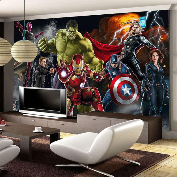 Free Shipping Buy Best Avengers Photo Wallpaper Custom 3d Wallpaper For Walls Decoracao Quarto De Crianca Quarto Dos Vingadores Ideias De Decoracao Casa