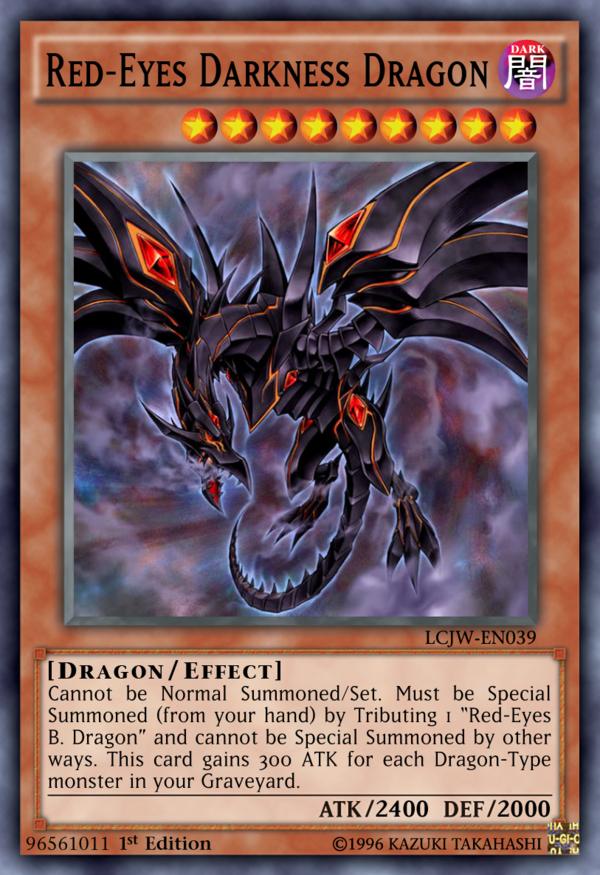 96561011 Red Eyes Darkness Dragon By Kai1411 Deviantart Com On Deviantart Yugioh Dragon Cards Yugioh Monsters Red Eyes