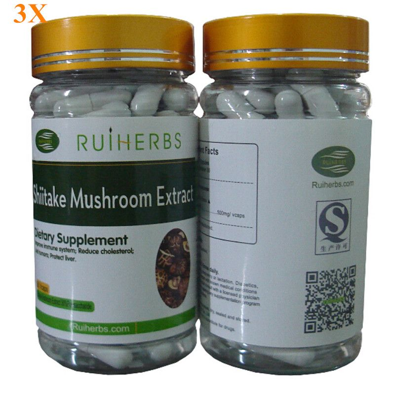 3 Flaschen Shiitake-pilz-extrakt 30% Polysaccharid Kapsel