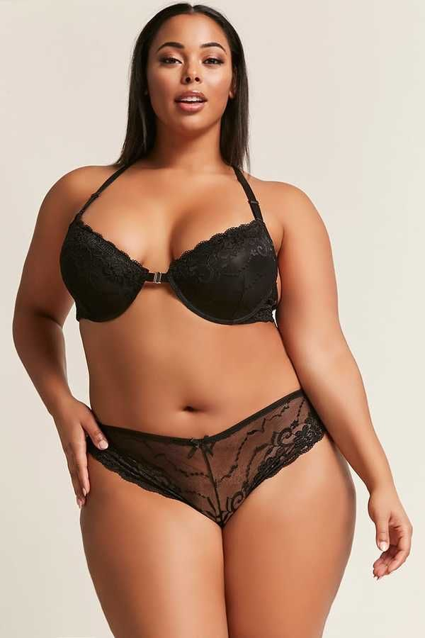290c8dec3a FOREVER 21+ Plus Size Lace Bra   Panty Set  Plussize  lingerie  fashion   curvygirl