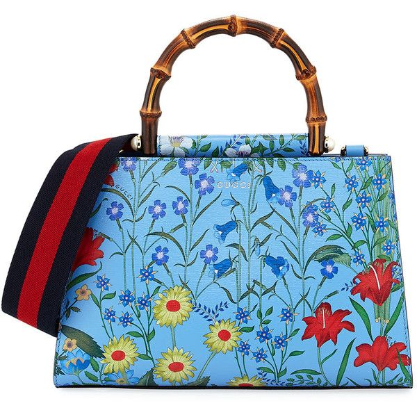 a0df5fbfed5 Gucci Nymphaea Small Flora Top-Handle Bag (€2.005) ❤ liked on ...