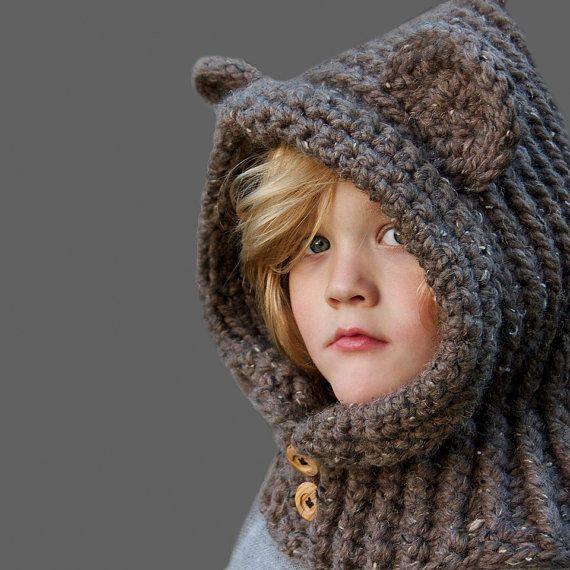 Crochet Hood Pattern Hooded Bear Cowl Sizes By Prettydarnadorable