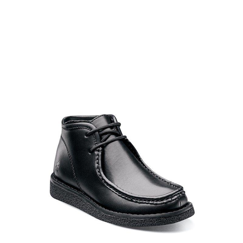 Stacy Adams Kids' Claxton Moc Toe Chukka Boot Pre/Grade School Boots (Black