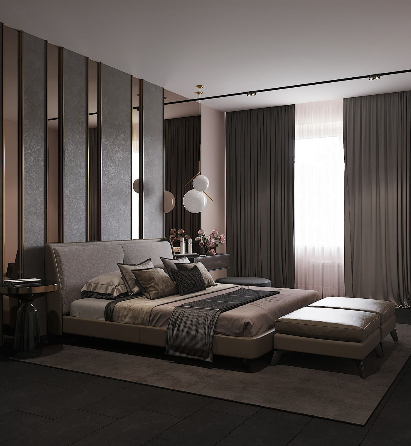 Bedroom In Contemporary Style On Behance Master Bedroom In 2019