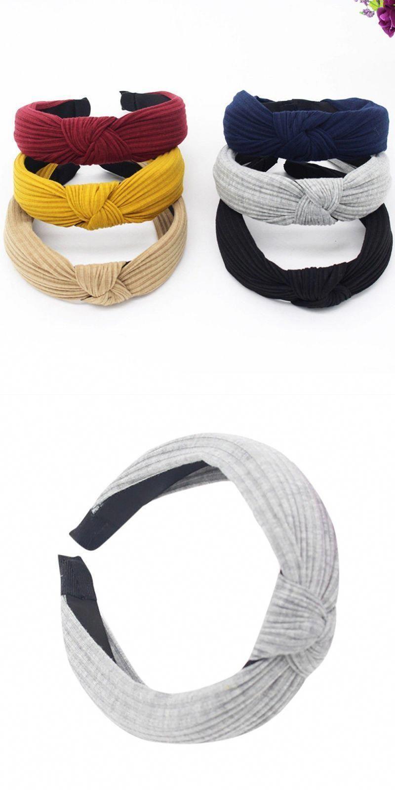 Twist Tie Cross Band Women Headwrap Hair Hoop Cloth Headband Hairband Knot Bow