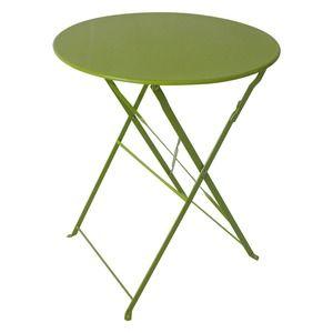 Table Diana Ronde En Acier Diametre 60 X H 71 Cm Vert Tilleul 25 Table Side Table Decor