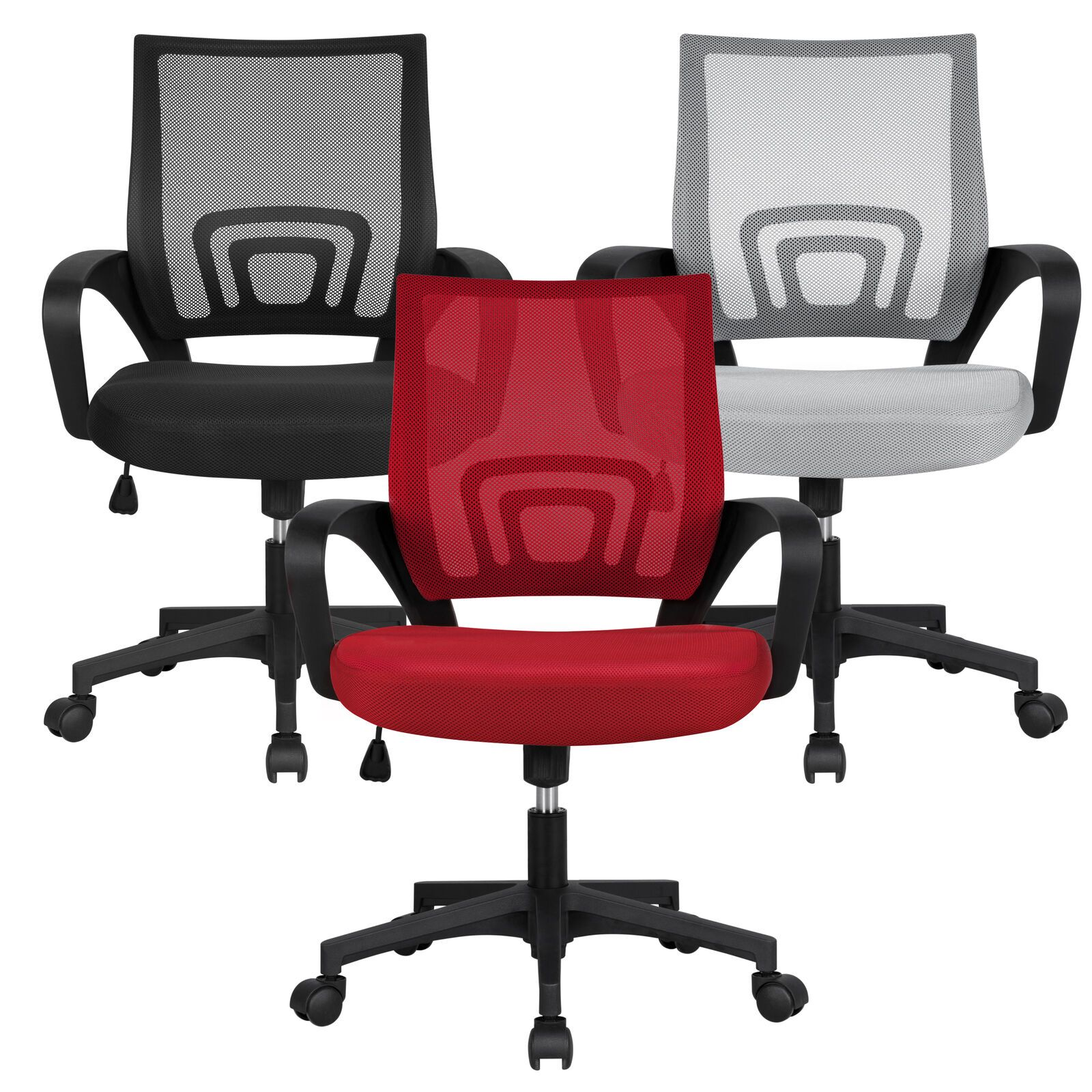 Details about Adjustable Ergonomic Mesh Swivel Computer