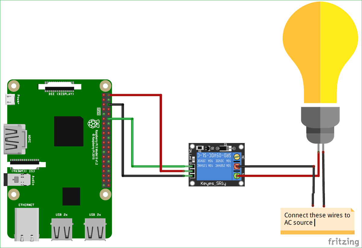 circuit diagram for voice controlled home automation using amazon alexa on raspberry pi electronics gadgets  [ 1200 x 822 Pixel ]