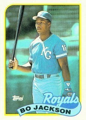 1989 Topps Baseball Card Of Bo Jackson Baseball Cards