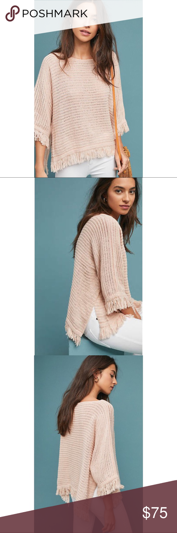 Anthropologie Akemi + Kin Blush Poncho Sweater ️Still