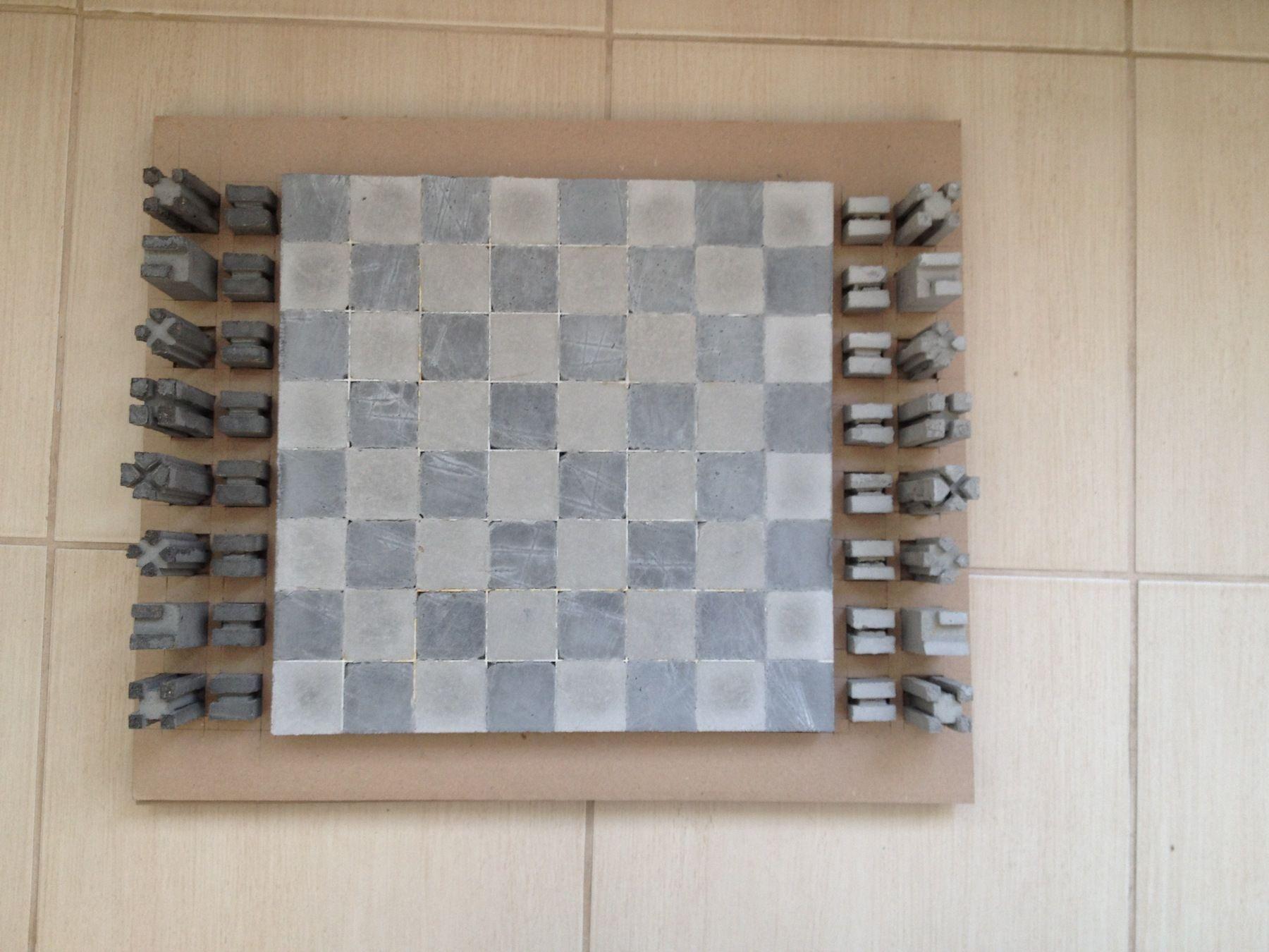Шахматы из бетона определение сроков схватывания цементного раствора