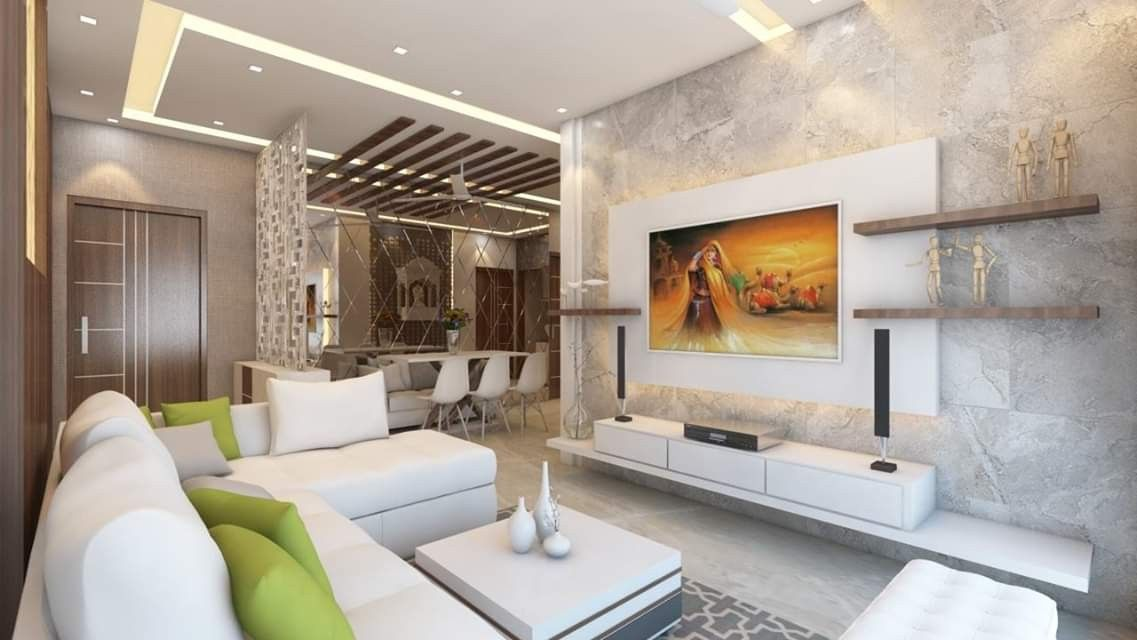 Living Room Interior Design By Kumar Interior Ongoing 3bhk Interior Project Dosti Imperia Manpada Thane New Hom Living Room Interior Interior Interior Projects