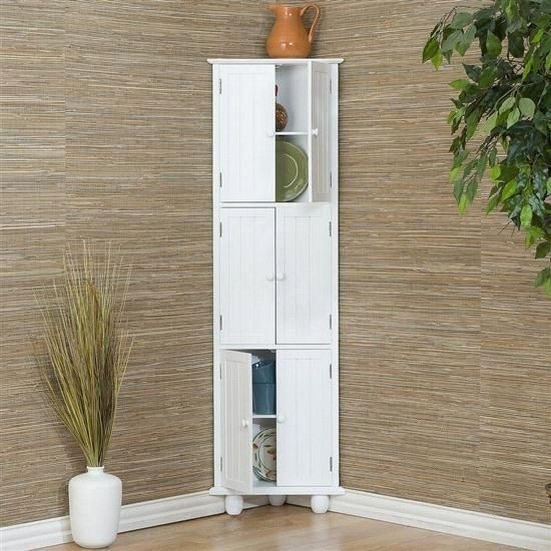 30 Clever Ideas Small Corner Shelves For Living Room Design Https Www Housenliving Com 201 Corner Storage Cabinet Corner Storage Living Room Corner Furniture