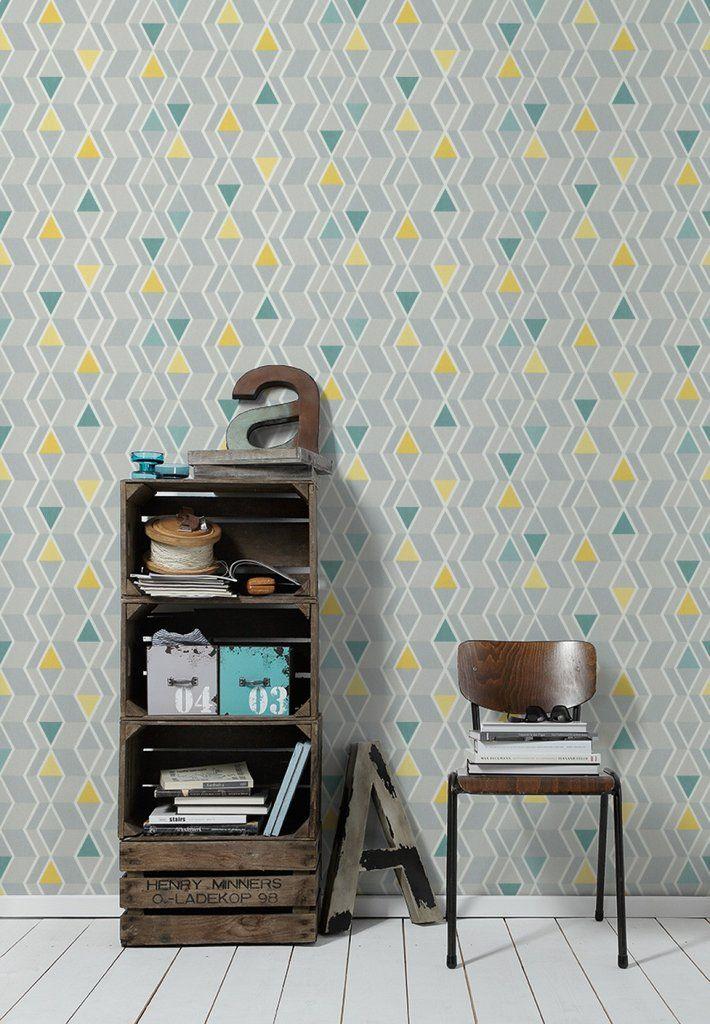AS Creation Wallpaper | New Look Geometric Green/Yellow | 32993-1 ...