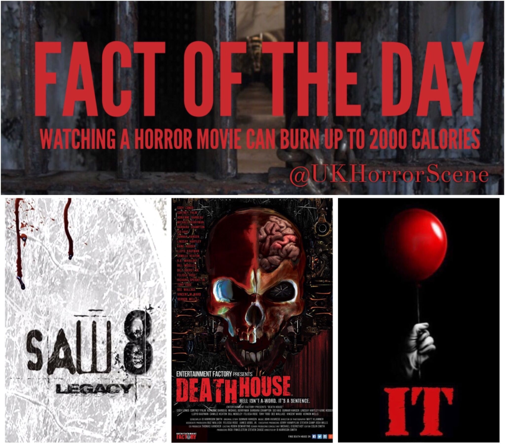 ‪#WorldPhysicalActivityDay‬  ‪2017 is a good year to start training‬  ‪@DeathHouseMovie ‬ ‪#DeathHouse‬  ‪@SAW_FILMS‬ ‪#SawLegacy‬  ‪@ITMovieOfficial‬ ‪#IT‬  #HorrorUnited #Horror #SciFi #Action #IconsOfHorror #Jigsaw #5Evils #Pennywise #StephenKing #Saw #DeathHouseMovie #StephenKingsIt