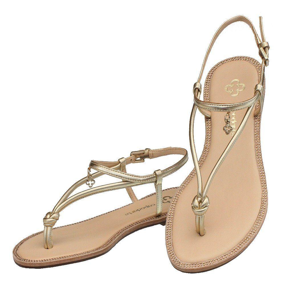 3995d366d Sandália Tiras Ouro Metal 3409 Capodarte para Moselle | Moselle sapatos  finos online! Moselle é feminina.