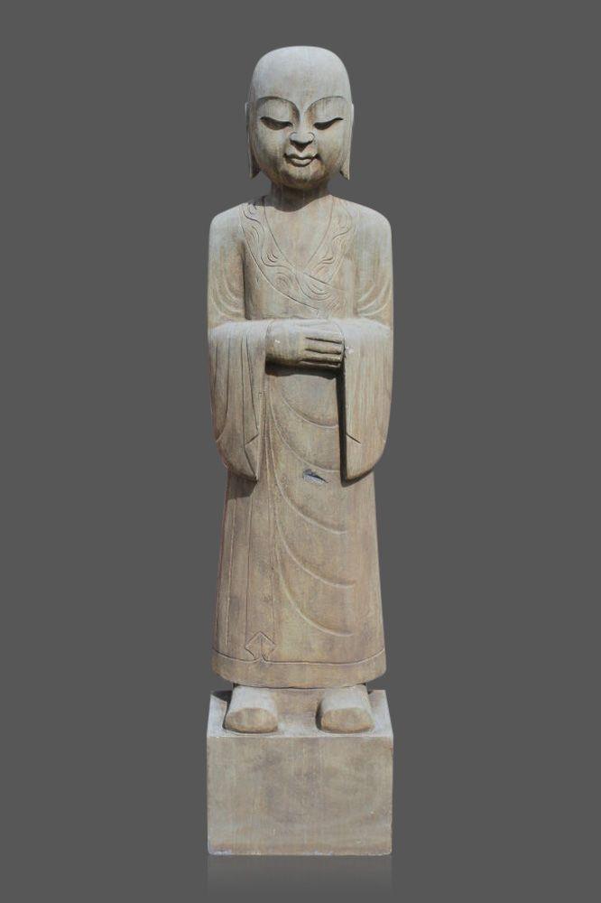 Tibetischer Monch Aus Naturstein Asiatische Gartengestaltung Japangarten Asiengarten Asiatische Steinfigur Buddha Buddha Statuen Buddha Figur