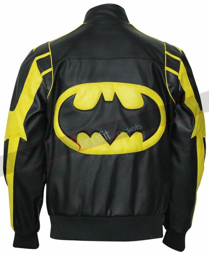 X Batman Black Yellow Leather Jacket Jackets Men Fashion Striped Leather Jacket Black N Yellow [ 1059 x 872 Pixel ]