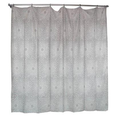 Threshold Silver Sunburst Shower Curtain Shower Curtain