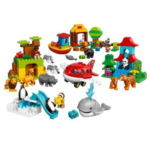 tour du monde duplo lego pour enfant de 2 ans 5 ans oxybul veil et jeux jouets nouveaux. Black Bedroom Furniture Sets. Home Design Ideas