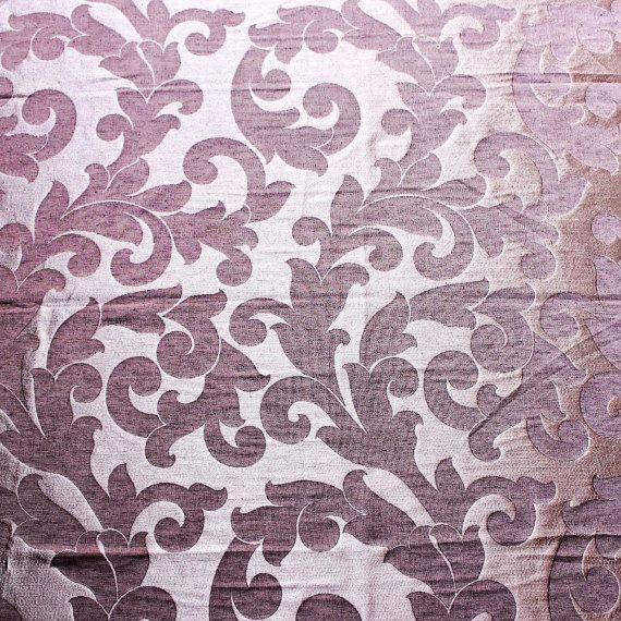 Dark Purple Wine Ivy Garden Curtain Fabric By FabricMart