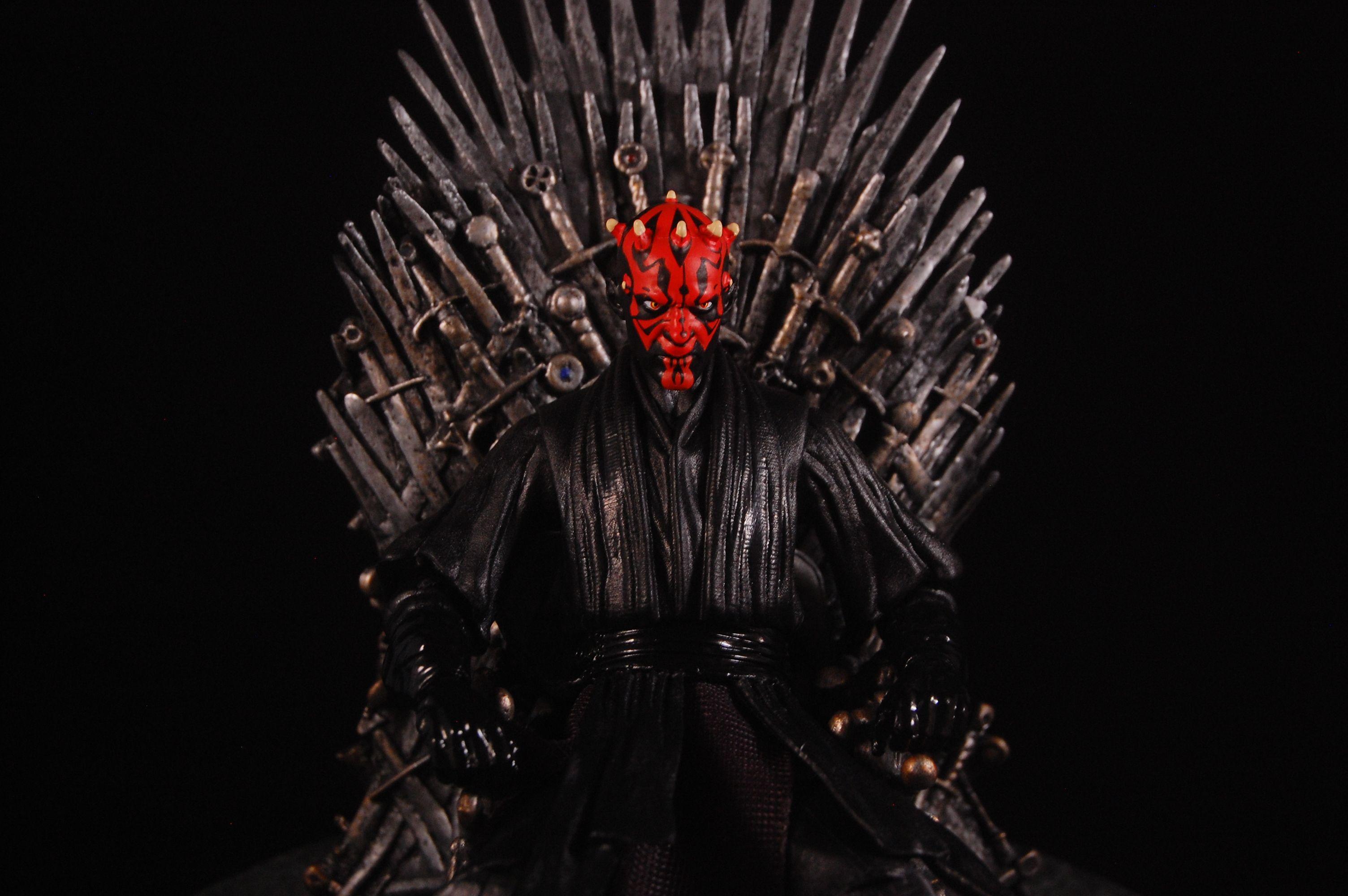 Iron Throne Darth Maul Star Wars Game Of Thrones Fun With Darth