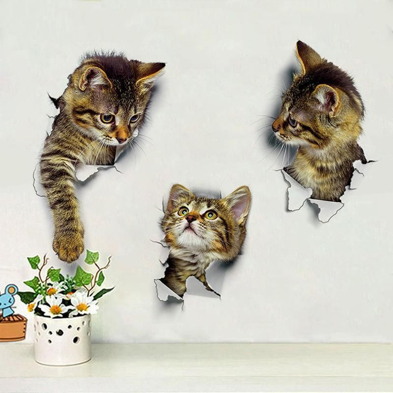 30 x Individual Kitty Cat Lover Wall Art Stickers Vinyl Decal Decor Idea