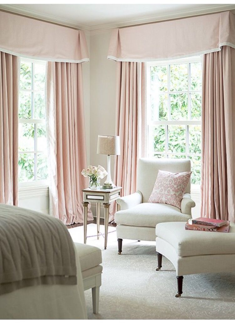 master bedroom decor just with valance curtain