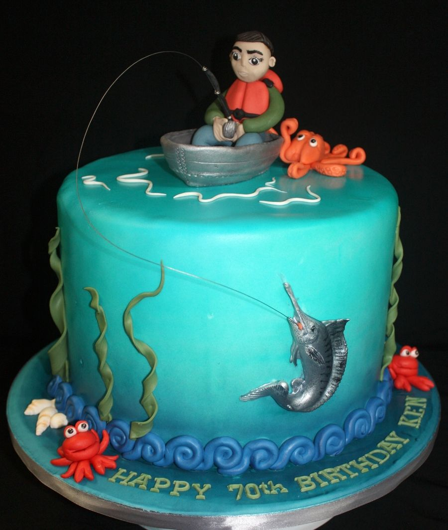 Marlin fishing cake debra pinterest marlin fishing for Fishing cake ideas